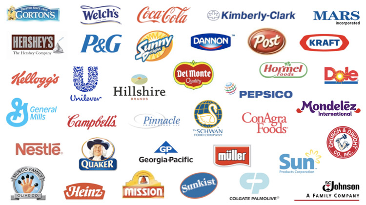 Companies we've worked with include Kellogg's, Quaker, Pepsico, ConAgra, Unilever and more